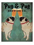 Pug and Pug Brewing Premium Giclee Print by Ryan Fowler