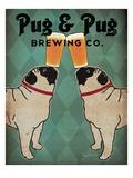 Pug and Pug Brewing Impressão giclée premium por Ryan Fowler