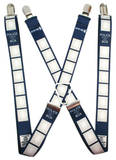 Dr. Who - Police Call Box Suspenders Novelty
