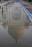 A Reflection of the Taj Mahal in a Garden Pool Photographic Print by Jonathan Irish