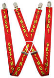 The Big Bang Theory - Bazinga! Red/Yellow Suspenders Novelty