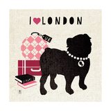 London Pooch Premium Giclee Print by Sarah Mousseau