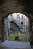 A Small Courtyard in the Hilltop Village of Santo Stefano Di Sessanio Photographic Print by Scott S. Warren
