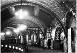 Old Subway Station New York City 1945 Archival Photo Poster Photo