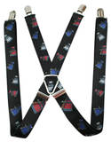 Doctor Who - Daleks Black Suspenders Novelty