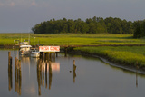 A Marsh and Boat Dock Near the York River Photographic Print by Skip Brown