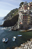The Waterfront in Riomaggiore, One of Five Towns in the Cinque Terre Photographic Print by Scott S. Warren