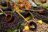 A Selection of Olives Sit in a Marketplace Fotografisk tryk af Taylor S. Kennedy