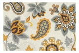Decorative Nature I Yellow Gray Cream Premium Giclee Print by  Pela