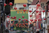 Colorful and Venerable Buildings in Chinatown, Singapore Photographic Print by Scott S. Warren