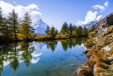 Grindjisee Lake, Rothorn Area of Zermatt, with Matterhorn in Background Photographic Print by Jonathan Irish