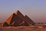 The Pyramids of Giza and Three Pyramids of the Queens Photographic Print by Kenneth Garrett