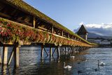 Chapel Bridge, Europe's Oldest Covered and the World's Oldest Truss Bridge Photographic Print by Jonathan Irish
