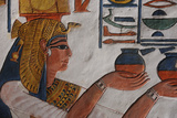 Queen Nefertari Making an Offering to Isis Photographic Print by Kenneth Garrett