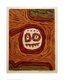 White-Brown Mask Giclee Print by Paul Klee