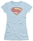 Juniors: Man of Steel - New MoS Distessed Shield T-shirts