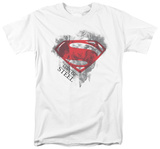 Man of Steel - Face & Logo (slim fit) T-shirts