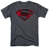 Man of Steel - Red And Black Glyph (slim fit) T-Shirt
