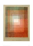 White Framed Polyphonically Impression giclée par Paul Klee