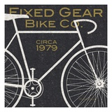 Fixed Gear Bike Co. Wydruk giclee premium autor Michael Mullan