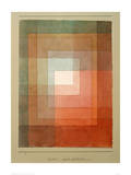 White Framed Polyphonically Reproduction procédé giclée par Paul Klee