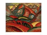 Oberstdorf, landscape Giclee Print by Alexej Von Jawlensky