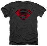 Man of Steel - Red And Black Glyph Tshirts