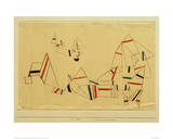 Ships After the Storm Stampa giclée di Paul Klee