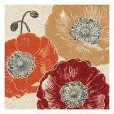 A Poppys Touch III Premium Giclee Print by Daphne Brissonnet