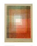 White Framed Polyphonically Giclee Print by Paul Klee