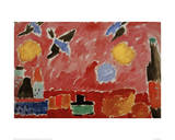 With Red Swallow Wallpaper Giclee Print by Alexej Von Jawlensky