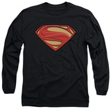 Long Sleeve: Man of Steel - New Solid Shield T-shirts