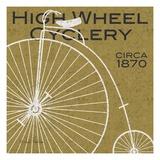 High Wheel Cyclery Lámina giclée premium por Michael Mullan