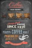 Coffee Menu II - Mini Prints by Drako Fontaine