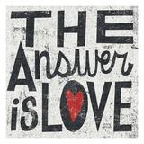 The Answer is Love Grunge プレミアムジクレープリント : マイケル・ミューラン