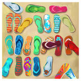 Flip Flops I - Mini Prints by Drako Fontaine