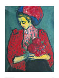 Girl with Peonies Giclee Print by Alexej Von Jawlensky