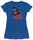 Juniors: Man of Steel - Lightning Power Shirt