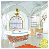 Moroccan Bath II - Mini Posters by Jocelyn Haybittel