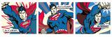 Superman (Pop Art Triptych) Kunstdrucke