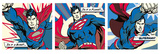 Superman (Pop Art Triptych) Prints