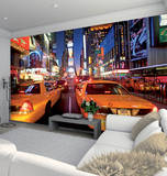 New York Times Square Wallpaper Mural Mural de papel de parede