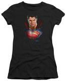 Juniors: Man of Steel - Super Bust T-shirts