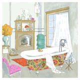 Moroccan Bath I - Mini Prints by Jocelyn Haybittel