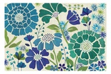 Blue Garden Premium Giclee Print by Veronique Charron