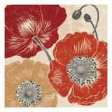 A Poppys Touch II Premium Giclee Print by Daphne Brissonnet