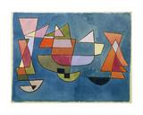 Paul Klee - Plachetní lodě Digitálně vytištěná reprodukce