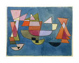 Veleros Lámina giclée por Paul Klee