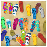 Flip Flops II - Mini Print by Drako Fontaine