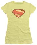 Juniors: Man of Steel - New Solid Shield T-Shirt